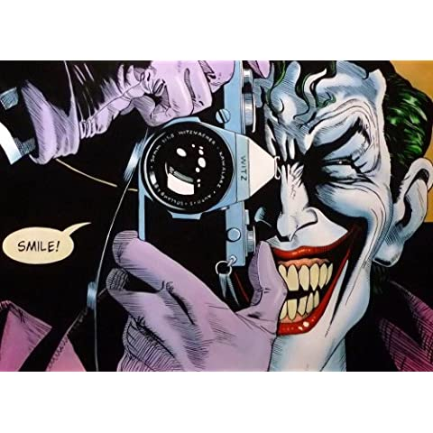 Joker de Dark Knight Returns. Homenaje Pintura al óleo pintado a mano, 40x 28piezas de Arte, No Un giclée, Póster o lona impresa. Este es un bonito reproducción del payaso Prince de Gotham. brushstrokes y textura Evidente y Esto Es menos una masa producen Póster y más un pedazo de arte. Framed, pero sólo Lienzo también está disponible.
