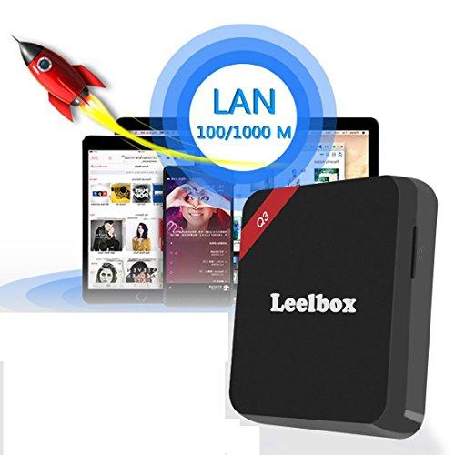 (2016 die Beste) Leelbox Q3 Android TV Box 2 GB/16GB 5G / 2.4G Dual Wi-Fi Bluetooth 4.0 Amlogic S905 Android 5.1 mit 1000M LAN KODI 16.1 Alle Vorinstallierte Pluggins Update von M9S Streaming Media Player - 2