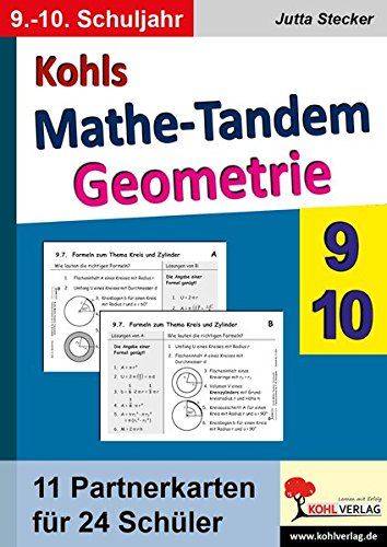 Kohls Mathe-Tandem - Geometrie, 9.-10. Schuljahr
