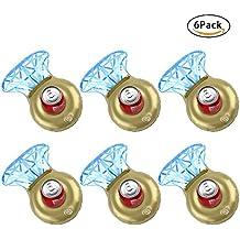 Skyoo Soporte Hinchable para Bebidas, Diseño de Diamantes, 6 Unidades