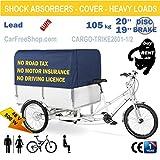 cargo-trike2601–1/2Box Elektro gestützten E-Bike/Trike mit Box und, Ladefläche, 48,3–50,8cm dreiradscooter, Big Akku 20Ah, 500W, Schutzblech, Bremse,, Mehrzweck-, schwere Lasten/Duty, Kutsche, professional-home verwendet, Truck, Rent, Gorilla, keine Führerschein,