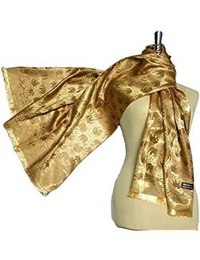 Pañuelo de seda pañuelo de cabeza Mantón de envoltura suave Elefante Mujer clásica bolsa pura