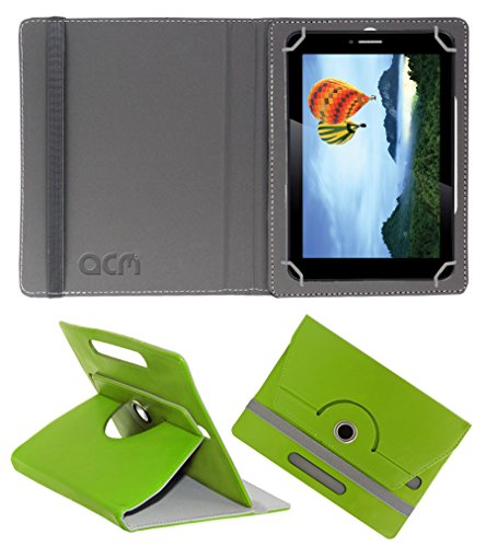 Acm Rotating 360° Leather Flip Case for Iball Slide 7236 2gi Cover Stand Green  available at amazon for Rs.149