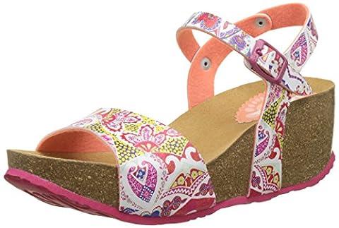 Chaussures Desigual - Desigual Bio7 Hearts, Sandales Bride Arriere Femme,