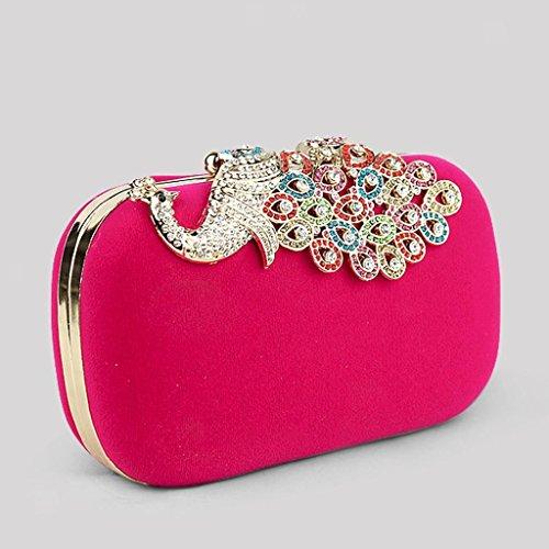 ELECTROPRIME 4pcs Fashion Womens Wedding Evening Party Bag Purse Clutch Handbag