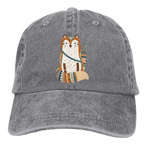 Woodland Tribal Animals Fox Snapback Cotton Hat
