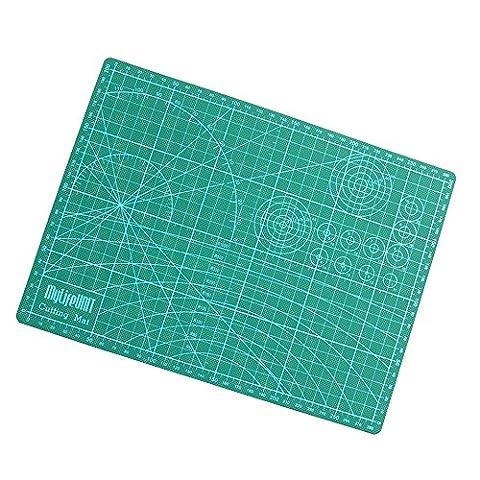 mylifeunit PVC Tapis de découpe autocicatrisant rotatif, double face (3mm d'épaisseur, 22,1x 30cm)