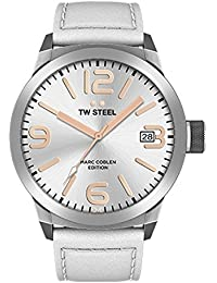 TW Steel Marc Coblen Edition mit Lederband 45 MM Silver/White TWMC21