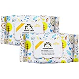 Amazon Brand - Mama Bear Premium Moisturizing Baby Wet Wipes - 72 wipes/pack (Pack of 2, With Lid)