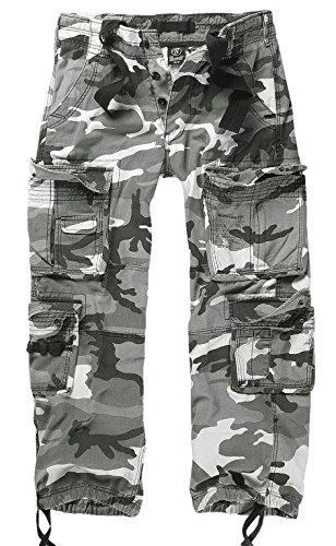Brandit - Pantalon - Cargo - Uni - Homme Argenté - Urban