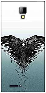 Snoogg Black scavenger Designer Protective Back Case Cover For Micromax Canvas Express A99
