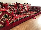 Orient Orientalische Sitzecke traditionell,Orientalische Sitzgruppe,Yogakissen,Orientalisches Sofa,Sitzkissen Designs Das Original aus dem Golf √ Authentisch und Zertifiziert √ Höher √ Größer