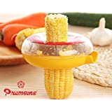 Premsons Corn Kerneler Kitchen Tool With Stainless Steel Blades Sweet Corn Peeler Remover - Yellow