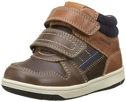 Geox Baby Jungen B New Flick Boy A High Top Sneaker, Braun (Coffee/Cognac), 24 EU