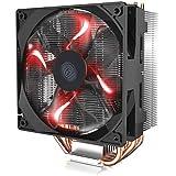 XIAOXIN CPU Cooler LED CPU Air Cooler ' 4 heatpipes, 1x Ventola PWM da 120mm, LED Rosso ' RR-212L-16PR-R1