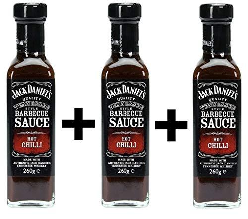 Original Jack Daniels Barbecue Sauce Hot Chilli 3x 260ml (Jack Daniels-hot-sauce)