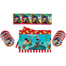 Theonoi Set de decoración para Fiesta de cumpleaños, servilletas + Mantel + Platos Grandes: