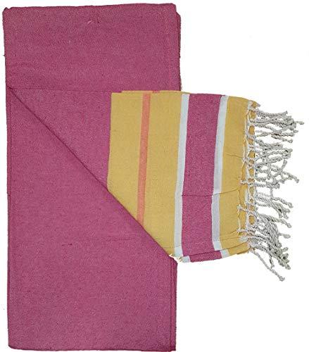Fouta Wabendecke, 100% gekämmte Baumwolle, auch für Pareo, Strandtuch, Tischdecke, Sofa, Maße,...