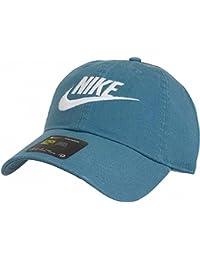 Nike Futura Washed H86 Gorra de Tenis, Hombre, Azul (Smokey Blue / Smokey Blue / White), Talla Única