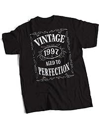 bybulldog® Vintage 1997 Aged To Perfection 21st Birthday Present Gift Mens Premium Black T-Shirt Small to 3XL