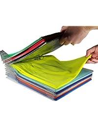 THEE 10pcs Organizador de Armario Camiseta Carpeta Sistema Antiarruga