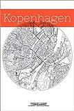 Posterlounge Leinwandbild 100 x 150 cm: Kopenhagen Karte Stadt Schwarz Weiss von Campus Graphics - fertiges Wandbild, Bild auf Keilrahmen, Fertigbild auf Echter Leinwand, Leinwanddruck