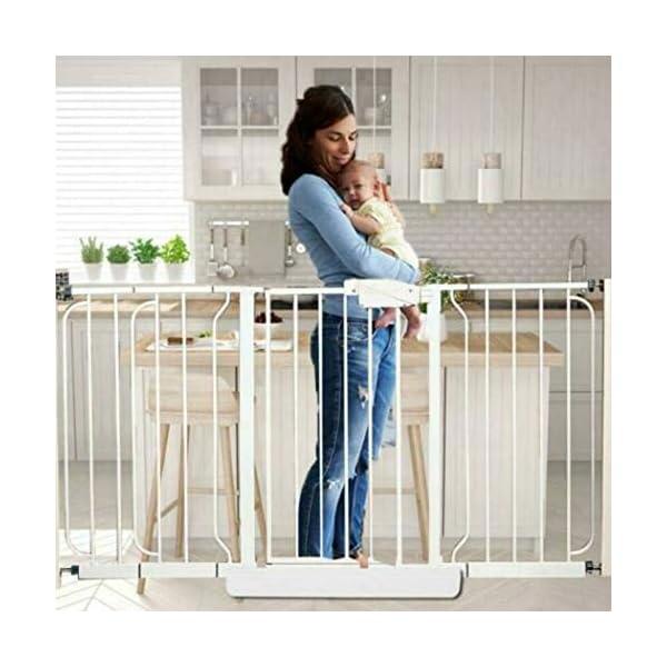 Baby Gate pet gate Door Bar Guide Fixing Sheet for Baby Door Bar Pet Fence cz hezhu eu Material: plastic Color: white Size: about 46*13*4cm/18.11*5.12*1.57in Door bar guide fixing kit: for baby or pet door, porch, stairs, etc. 2