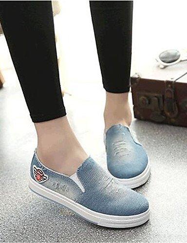 ZQ gyht Damenschuhe-Halbschuhe-Outddor / Sportlich-Leinwand / Denim Jeans-Flacher Absatz-Komfort-Schwarz / Blau light blue-us6 / eu36 / uk4 / cn36