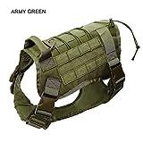 Police K9 Tactical Training Hundegeschirr Militärische Verstellbare Molle Nylon Weste,ArmyGreen,L