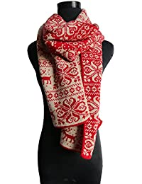 Starepe Unisex Soft Knit Warm Christmas Deer Scarves