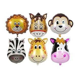 PINK SNAKE 6 Stück Folienballon Tier für Kinder Geburtstag Party Dekoration,zufällig