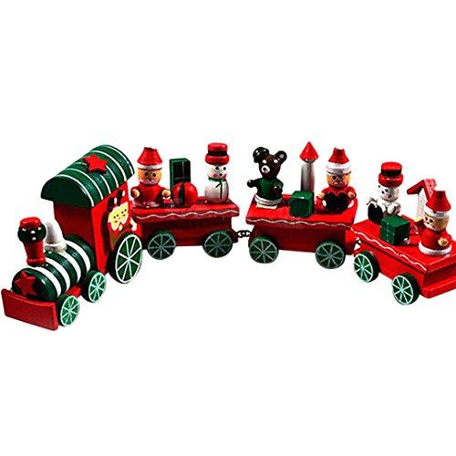 Sunnywill 1 Stk Holz Weihnachten Weihnachtsgeschenk Zug Dekoration Dekor für Silvester Geschenkkorb Dorf