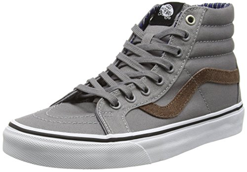 Vans Unisex-Erwachsene Sk8-Hi Reissue High-Top Grau (Cord & Plaid frost gray/true white)