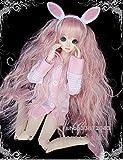 Tita-Doremi Ball-jointed Doll BJD Perücke Puppen Haarteil Für 1/4 7-8 inch Mini Dollfie SD10 MDD MSD Volks AOD Minifee DOD LUTS DZ Doll Pink Wig Hair 1/3 8-9 inch 22-24cm (Perücke Nur,Keine Puppe )