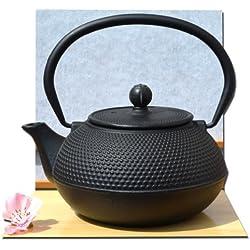 Stile giapponese Tetsubin Ghisa hobnail nero teiera bollitore 0,6 litro
