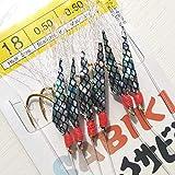 LIMMC 10 Packungen 6# 8# 10# 12# 14# 16# 18# Ribbonfish Sabiki Rig Shrimp Sabiki Rigs Weicher Angelköder mit starkem Angelhaken, Größe 14 10 Packungen