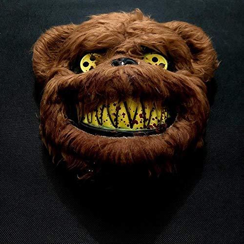 Braunbär Maske - zhongleiss Plüsch Maske Horror Kopfbedeckung Halloween