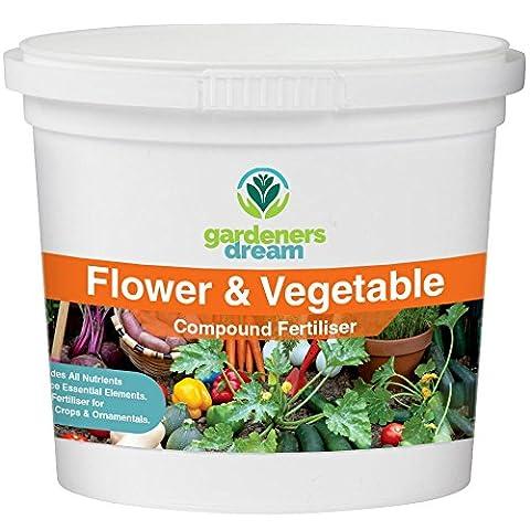 GardenersDream - Flower & Vegetable - Compound Fertiliser Plant Food