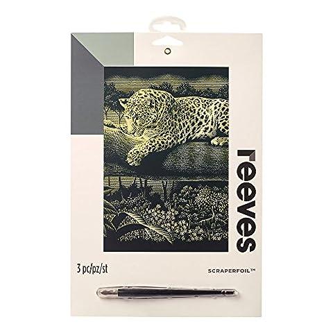 Reeves Leopard Gold Scraper Foil, Multi-Colour, Medium