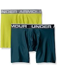 Under Armour, O-Series 6In Boxerjock 2Pk, Boxer, Uomo, Verde (Arden Green/Smash Yellow 919), L