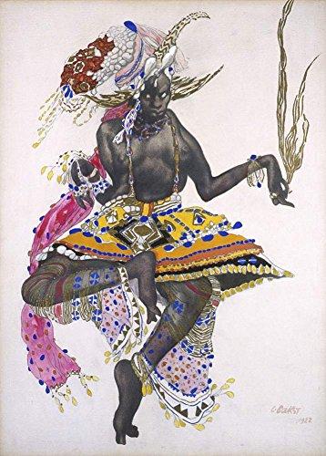 Vintage Ballett Leon Bakst Kostüm Design 250gsm, Hochglanz, A3, vervielfältigtes Poster