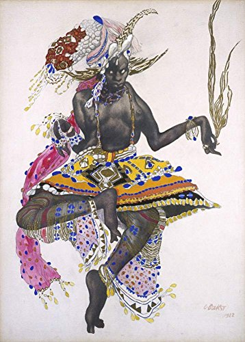 Vintage Ballett Leon Bakst Kostüm Design 250gsm, Hochglanz, A3, vervielfältigtes - Bakst Kostüm Designs