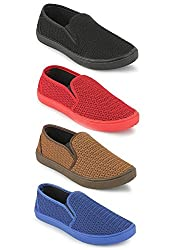 Scantia Women Combo Pack of 4 Loafer Shoes