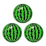 Toyvian Aufblasbare Wassermelonenbälle - Wasserball, 22cm Durchmesser Schwimmbad Party Bälle, Kinder Draußen Drinnen Sommer Spielen (3 Pack)