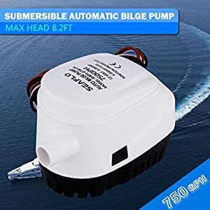 Excelvan ® 12V 750GPH cale automatique-pompe à eau submersible avec pompe électrique entièrement automatique