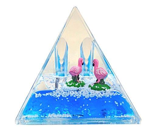 Porte Stylo Pyramide, flotteur Flamant Rose - Bleu