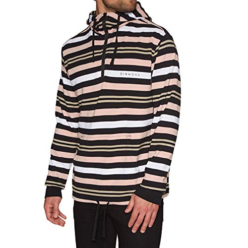 Diamond Supply Co. Marquise Striped Zip Hoody Small Black Diamond Zip Hoodie