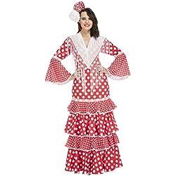 My Other Me Me-203847 Disfraz de Flamenca Sevilla para Mujer, Color Rojo, S (Viving Costumes 203847)