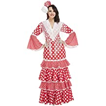 My Other Me - Disfraz de flamenca Sevilla para mujer, color rojo, XL (Viving Costumes 203849)