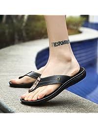 xing lin homme Sandales d'été Tongs pour homme Angleterre Clip Sandales NEUF antidérapant Cool Sandales Chaussures Trend 42Blanc